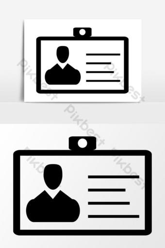 gráficos vectoriales de icono de tarjeta de identidad Elementos graficos Modelo EPS
