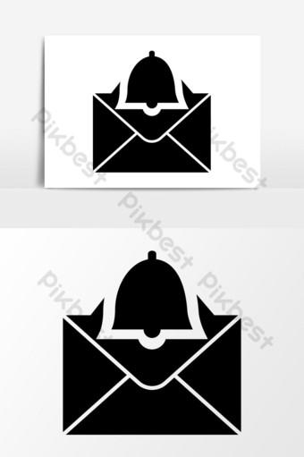 gráficos vectoriales de icono de notificación por correo electrónico Elementos graficos Modelo EPS