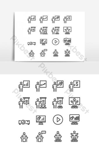 iconos de formación empresarial símbolo perfecto diseño simple conjunto para usar en el sitio web infografía Elementos graficos Modelo EPS