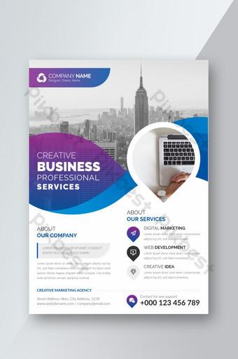 Modèle de conception de flyer d'entreprise avec dégradé de couleur Modèle AI