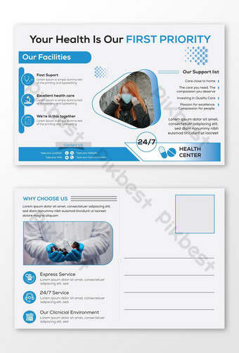 Modèle de Carte postale médicale créative Modèle AI
