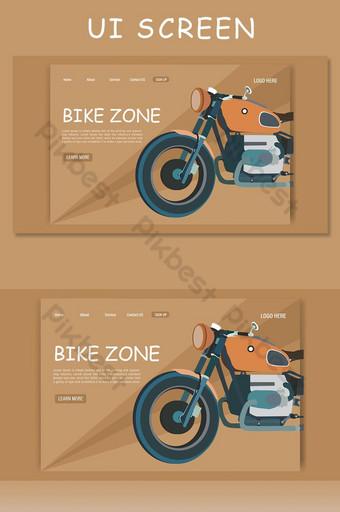 Bike illustration for landing page ui screen UI Template AI