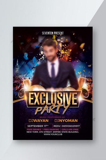 modelo de folheto de evento de música de DJ exclusivo para festa Modelo PSD