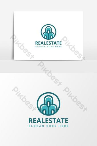 diseño de logotipo de bienes raíces moderno edificio logo vector plantilla de elementos gráficos Elementos graficos Modelo AI