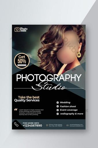 plantilla de volante de fotografía promocional profesional Modelo PSD