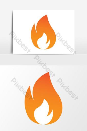 fuego ardiente icono vector diseño gráfico Elementos graficos Modelo EPS