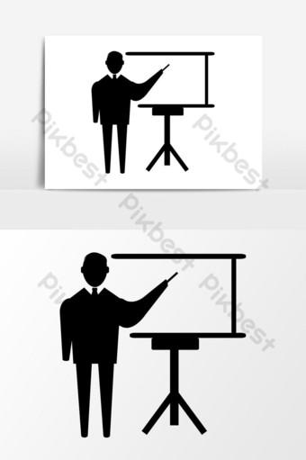 Conception graphique de vecteur icône de présentation Éléments graphiques Modèle EPS
