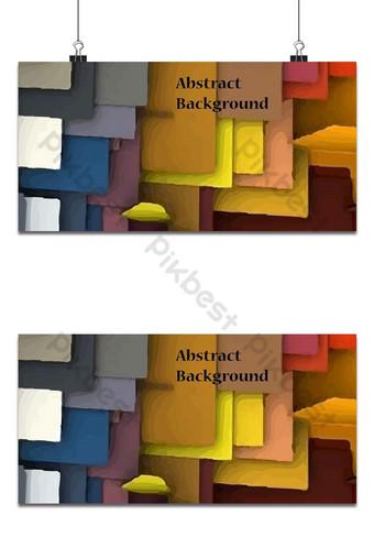 Fondo de forma abstracta multicolor Fondos Modelo AI