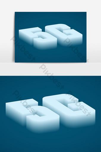 5g fade out efeito de texto 3D Elementos gráficos Modelo EPS