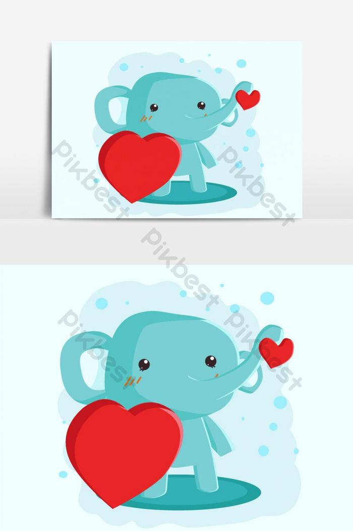 Cute Elephant Vector Graphic Element Png Images Eps Free Download Pikbest Elephant png you can download 36 free elephant png images. cute elephant vector graphic element