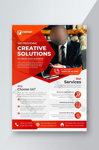 Modèle de conception de flyer d'entreprise moderne et créatif Modèle PSD
