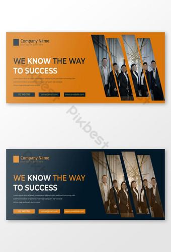 templat desain sampul facebook perusahaan bisnis Templat EPS