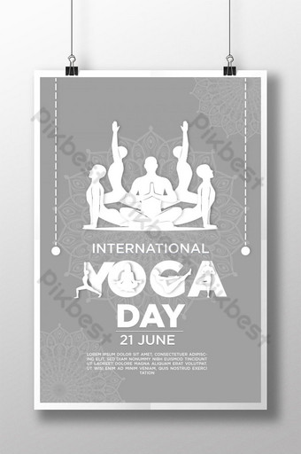 International Yoga day Creative poster templet Template EPS