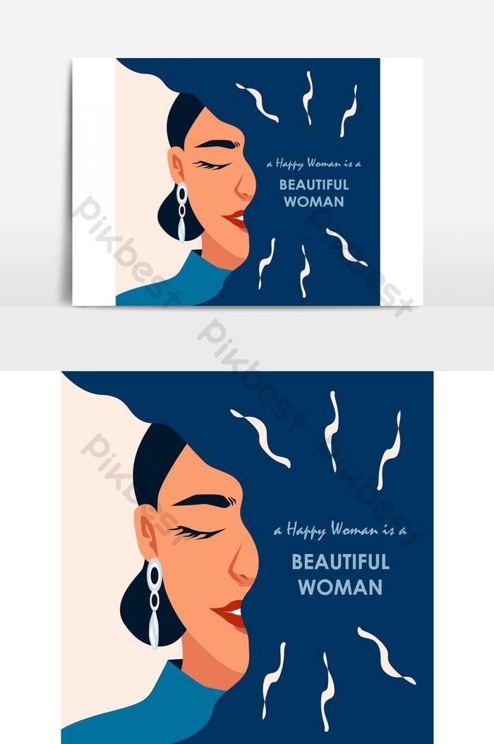 Selamat Dan Wanita Cantik Menyapa Elemen Grafis Vektor Elemen Grafis Templat Eps Unduhan Gratis Pikbest