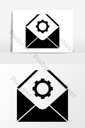 gráficos vectoriales de icono de configuración de correo electrónico Elementos graficos Modelo EPS