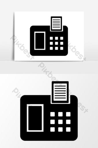 icono de fax diseño gráfico vectorial Elementos graficos Modelo EPS