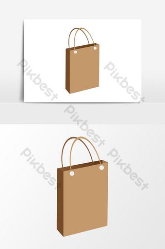 gráficos vectoriales de icono de bolsa de compras Elementos graficos Modelo EPS