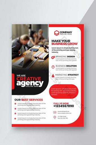 Modèle de conception de flyer pour agence commerciale professionnelle Modèle PSD