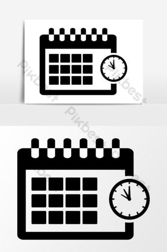 diseño de gráficos vectoriales de icono de calendario Elementos graficos Modelo EPS