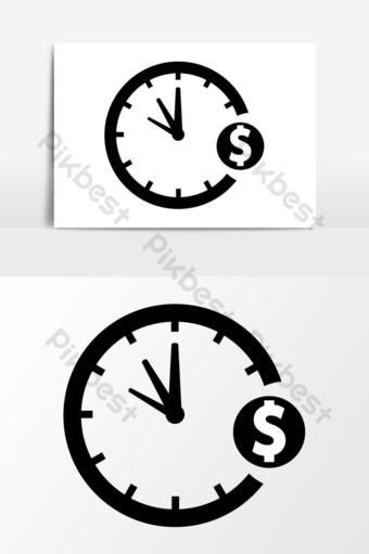 el tiempo es dinero icono de gráficos vectoriales Elementos graficos Modelo EPS
