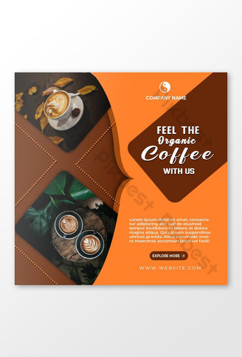 coffeeee shop social media advertisement design Template PSD