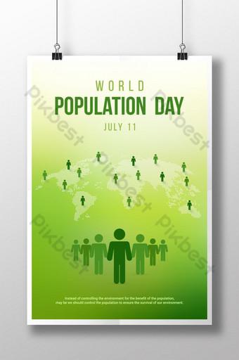 세계 인구의 날 크리에이티브 아트 워크 템플릿 EPS