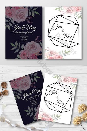 زفاف بطاقة معايدة زفاف سعيد تصميم بطاقة زفاف جميلة قالب AI