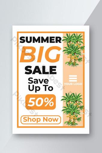 Conception de flyer de vente d'été Modèle PSD