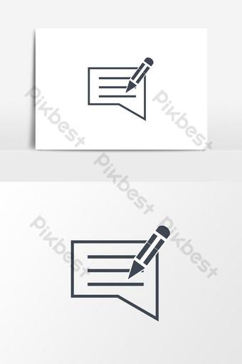 icono de retroalimentación de escritura elemento de gráficos vectoriales de alta calidad Elementos graficos Modelo AI