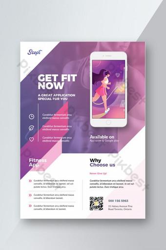 Modèle de Flyer d'application mobile moderne Modèle PSD