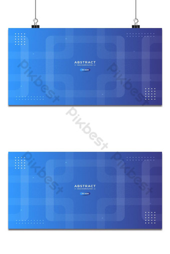 Fondo moderno degradado azul abstracto con formas cuadradas planas 3d con semitono brillante Fondos Modelo PSD