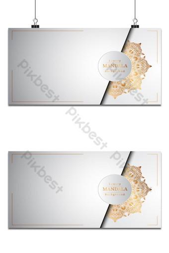 خلفية إسلامية ماندالا الزينة الفاخرة مع أنماط الأرابيسك الذهبية خلفيات قالب EPS