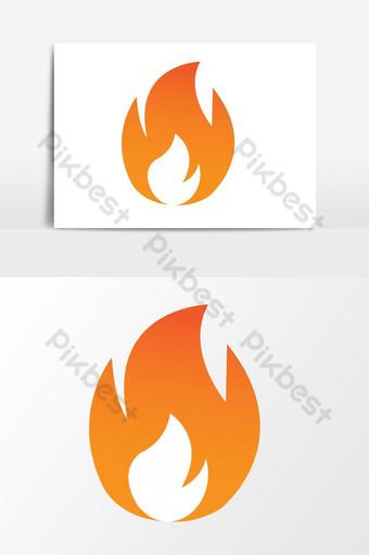 gráficos vectoriales de icono de fuego ardiente Elementos graficos Modelo EPS