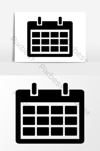 icono de calendario diseños gráficos vectoriales Elementos graficos Modelo EPS