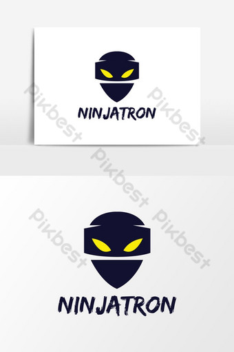 logotipo de ninja azul para diseño de logotipos de juegos y deportes Elementos graficos Modelo AI