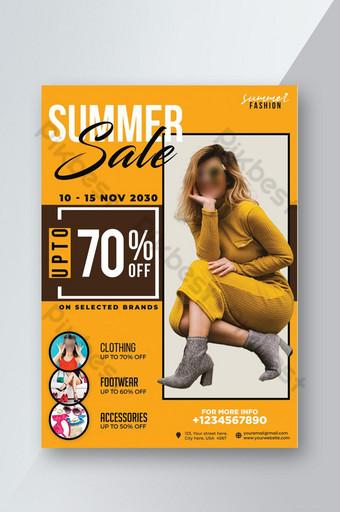 Modèle de Flyer de vente de mode d'été professionnelle Modèle PSD