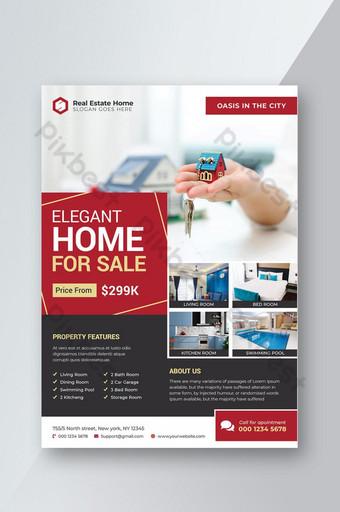 Modèle de flyer élégant immobilier à vendre Modèle PSD