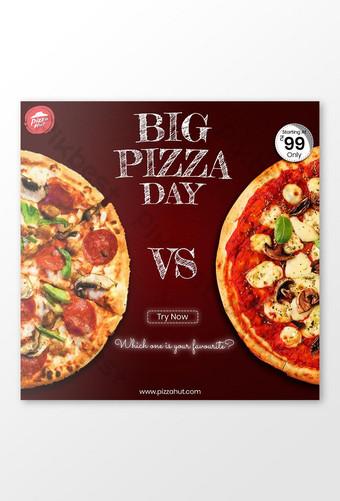 pizza de redes sociales psd Modelo PSD