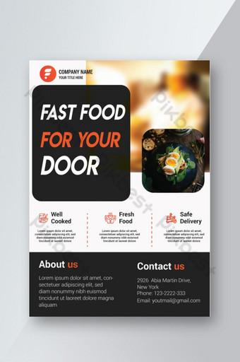 Conception de flyers de restauration rapide créative Modèle AI