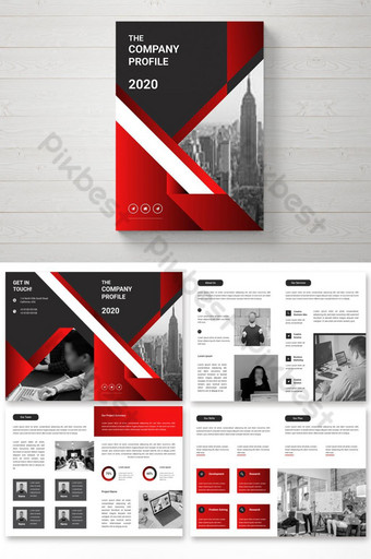 Diseño de folleto comercial de 8 páginas. Modelo AI