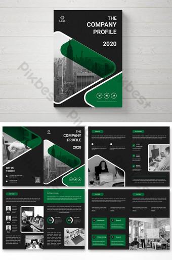Дизайн бизнес-брошюры на 8 страницах шаблон AI