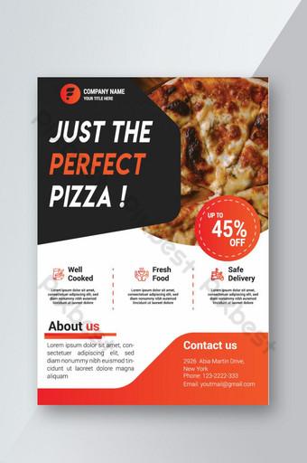 Le modèle de flyer de pizza ou la conception de bannière peuvent être utilisés pour publier des impressions et des présentations Modèle AI