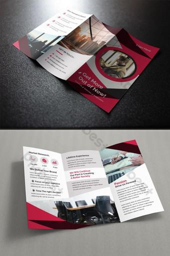 قالب تصميم كتيب ثلاثي أضعاف للشركات التجارية قالب EPS