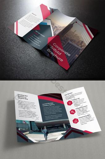 قالب تصميم كتيب الشركة ثلاثي الطيات قالب EPS