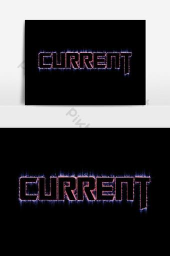 efecto de texto claro actual con fondo negro Elementos graficos Modelo PSD