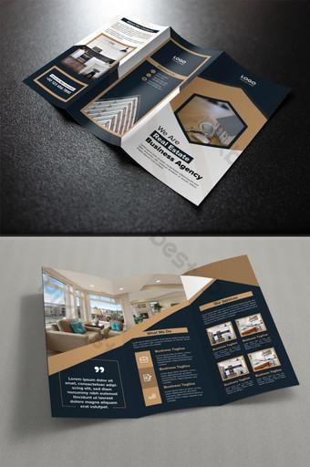 plantilla de folleto plegable creativo de bienes raíces Modelo AI