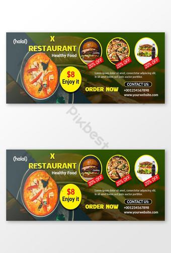 plantilla de psd de foto de portada de facebook de restaurante Modelo PSD