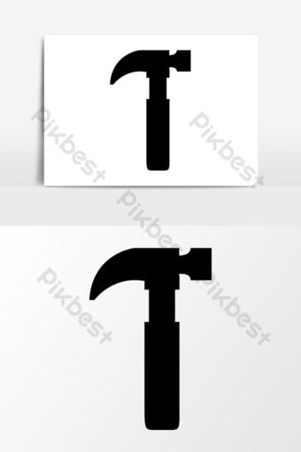 gráficos vectoriales de icono de martillo de construcción Elementos graficos Modelo EPS