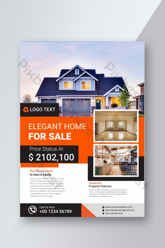 Elegant home for sale real estate flyer template Template AI