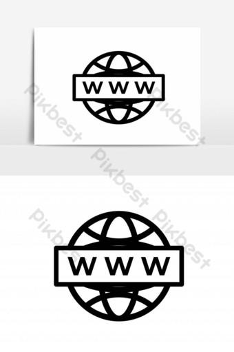compartir conexión línea icono diseño vector plantilla fondo transparente Elementos graficos Modelo PSD